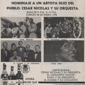 Celebration in Commemoration of Juan Pablo Duarte Birthday Event Flyer, January 28, 1978