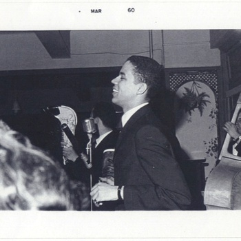 Johnny Pacheco and musicians at the Tritons Club in the Bronx, ca. 1960.