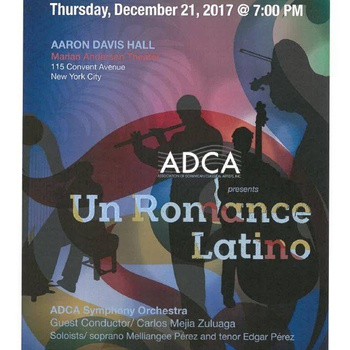 Un Romance Latino at Aaron Davis Hall Flyer, December 21, 2017