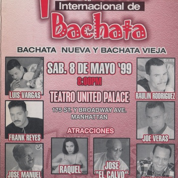 First International Bachata Festival Flyer, May 8, 1999