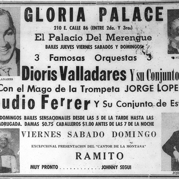 Gloria Palace Advertisement, 1953
