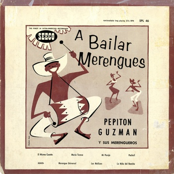 A Bailar Merengues, LP album cover, 1953