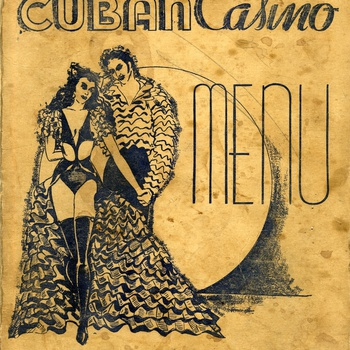 Cuban Casino menu, ca. 1940s
