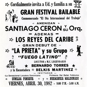 Great Dance Festival in Commemoration of International Workers Day Flyer, April 30, 1982