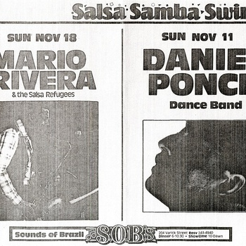 Mario Rivera and the Salsa Refugees Performance Advertisement, November 18, 1990