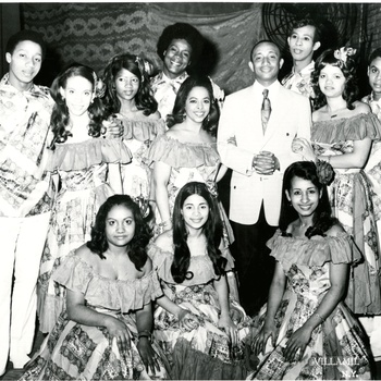 Rafael Solano with Normandía Maldonado y su Ballet Quisqueya at the San Juan Theater, ca. 1970s