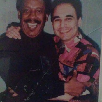 (from left) Mario Rivera and Michel Camilo, circa 1990s