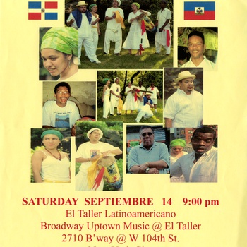 Pa' Lo Monte Afro-Indigenous Dominican & Haitian Folklore Ensemble at El Taller Latinoamericano flyer, September 19, ca. 2002-2003