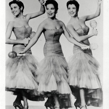 The Malagon Sisters, General Artists Corporation press photo, ca. 1955