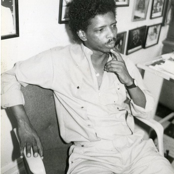 Dominican singer, producer and band leader Victor Waiil, ca 1980s