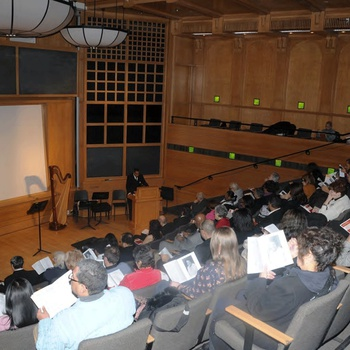 Audience during Memorial Tribute Concert for Tilsia Brens on December 17, 2010 at The City College of New York