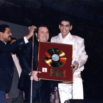 Fernandito Villalona Receiving his Gold Record Plaque, 1985