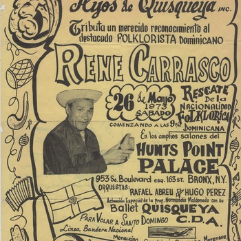 Tribute for Rene Carrasco by Club Lírico Cultural Hijos de Quisqueya, Inc., May 26, 1973