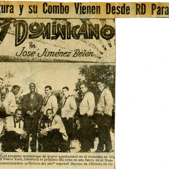 Johnny Ventura y su Combo come from DR to perform in NYC, November 10,1967