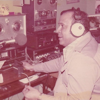 Disc Jockey and Announcer Pappy Lafontaine Working at WBNX Radio Station, New York City, circa 1970s