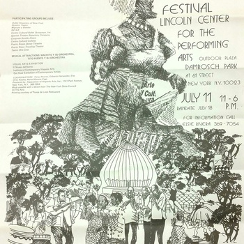 First Annual Hispanic Arts Festival Flyer, July 11, 1976