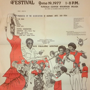 2nd Annual Hispanic Arts Festival Flyer, June 19, 1977