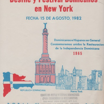 First Dominican Parade and Festival Flyer, August 15, 1982